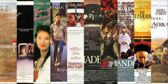 Best Picture Winning Movies of the 1980s