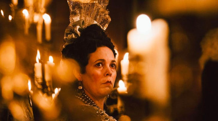 Olivia Colman in The Favourite